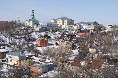 Вид на город из владимирского кремля