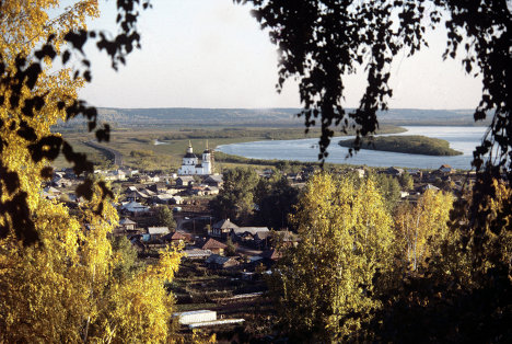 Вид на поселок Комарово с холма