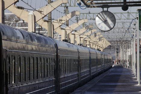 На перроне Ленинградского вокзал