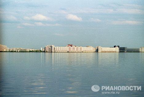 Новый жилой район города на берегу Финского залива