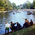 Рыболовы на Голицынском пруду