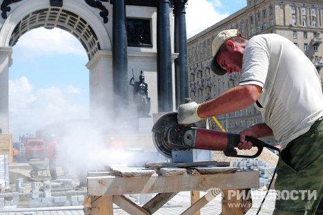 Реставрация Триумфальной арки в Москве