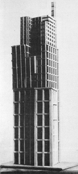 Проект небоскреба на Лубянской площади Владимира Кринского