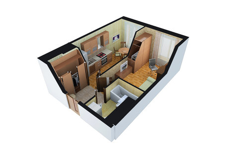 Современные малометражки: жилье дядюшки тыквы и модные студи.