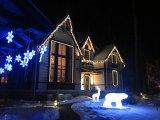 Как украсить загородный дом зимой