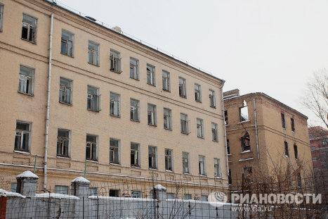 Жилой двор на Малой Сухаревской площади