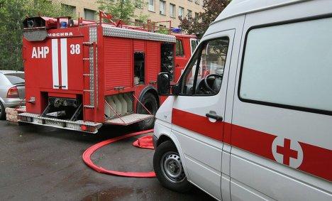 Пожар в детской спортшколе на юго-западе Москвы