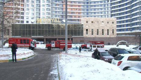 Пожар на юго-западе Москвы
