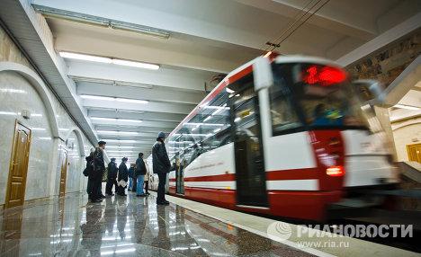 Работа метротрама в Волгограде