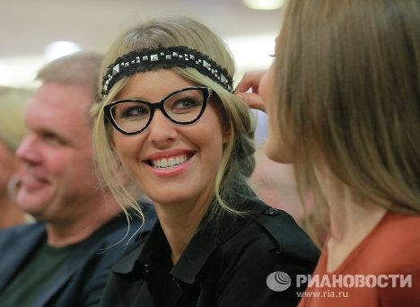Телеведущая Ксения Собчак