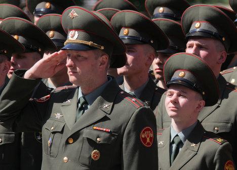 Церемония увольнения в запас военнослужащих Почетного караула