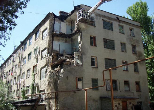 Обрушение части здания общежития в Новочеркасске