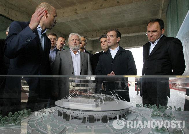 Рабочая поездка Д. Медведева в Санкт-Петербург