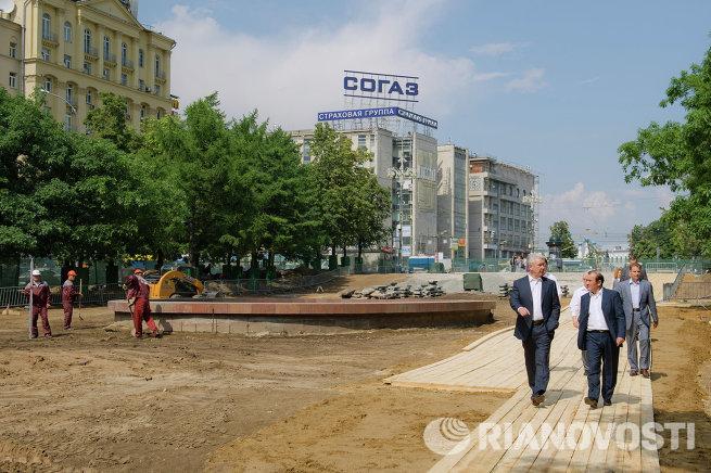 Реконструкция Новопушкинского сквера