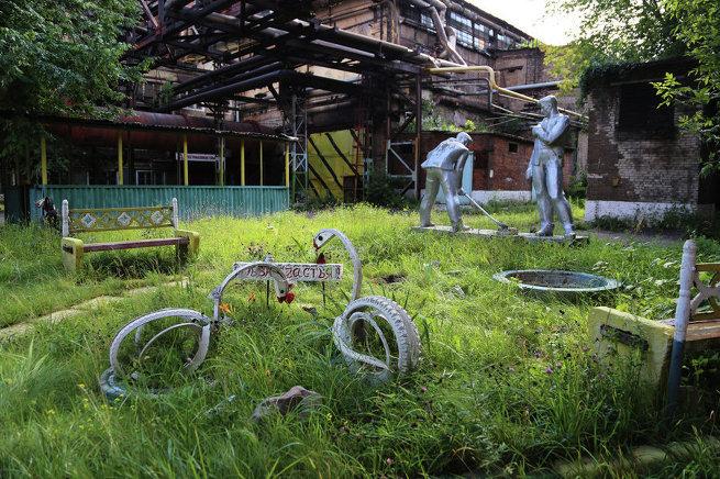 Промзона завода Серп и молот в Москве.