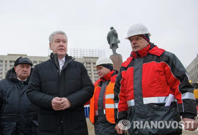 С.Собянин проинспектировал ход работ по капитальному ремонту Октябрьского транспортного тонеля