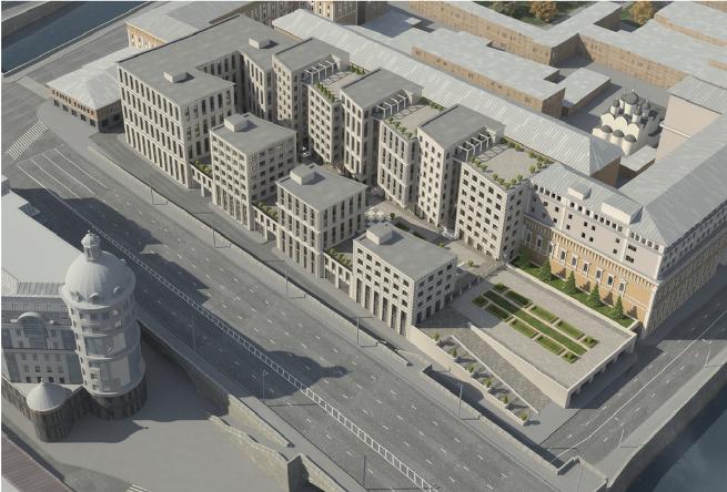Проект комплекса Царев сад, предложенный бюро Герасимов и партнеры