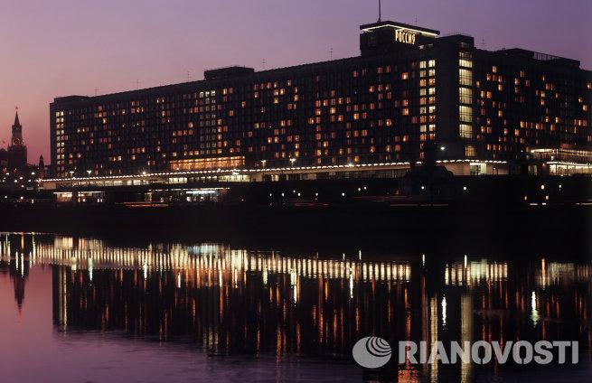 Здание гостиницы Россия в городе Москва