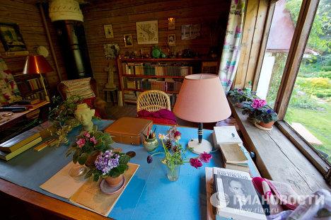 Кабинет К.Г. Паустовского в доме-музее писателя в Тарусе