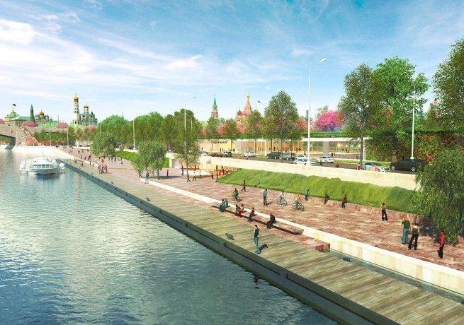 Проект развития територий Москвы-реки бюро MAXWAN + ATRIUM