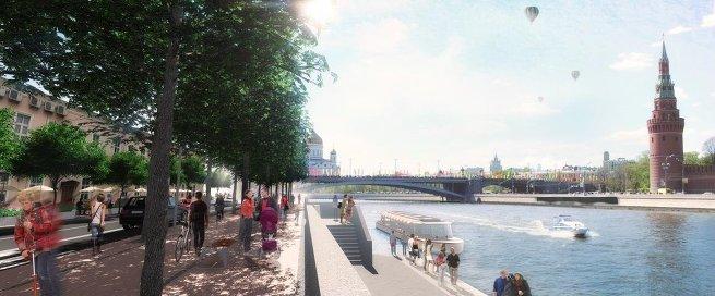 Проект развития територий Москвы-реки бюро SWA