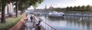 Проект развития територий Москвы-реки бюро TURENSCAPE