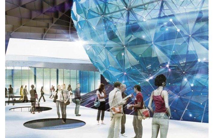 Концепция павильон Росатома на ВДНХ в Москве от архитектурного бюро ABD Architects.