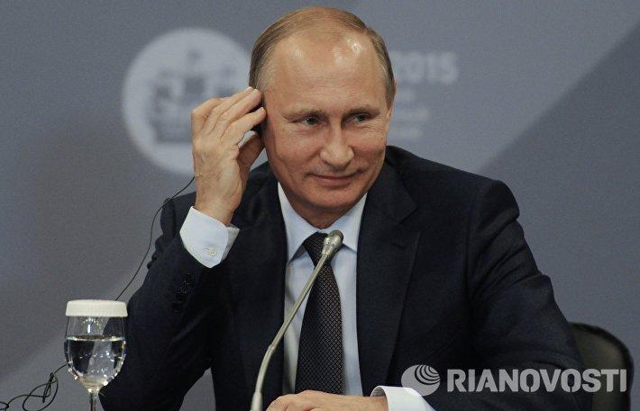 Рабочая встреча президента РФ В.Путина с руководителями крупнейших иностранных компаний и деловых ассоциаций