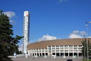 Олимпийский стадион и башня в Хельсинки