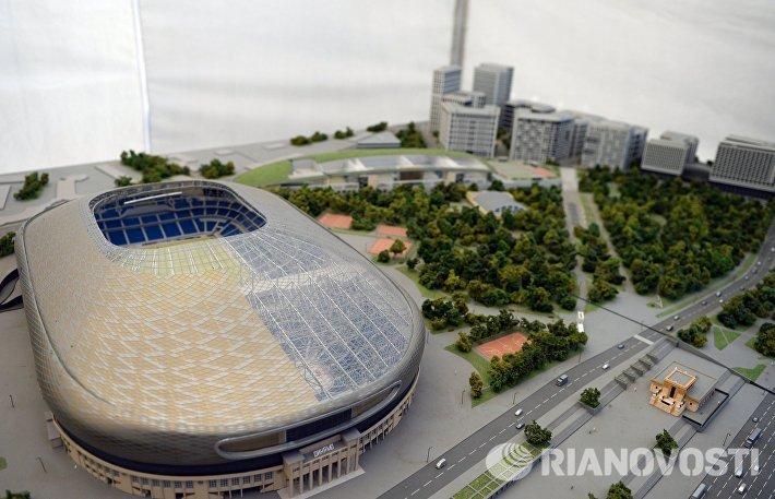 Макет будущего стадиона ВТБ Арена