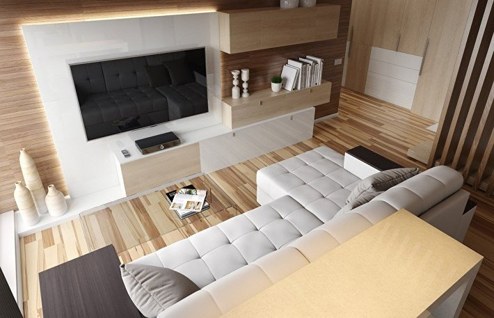 Стенка на стену: как выбрать мебельный комплект под телевизор в гостиную
