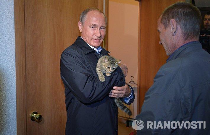 Рабочая поездка президента РФ В.Путина в Сибирский федеральный округ