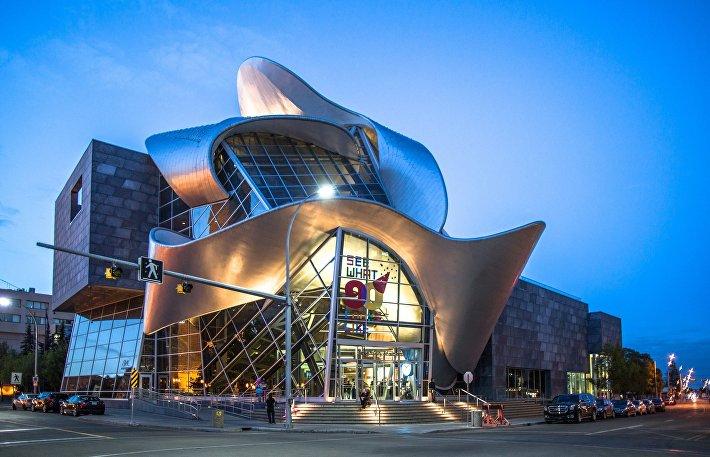 Современное здание художественной галереи Альберты в Эдмонте