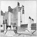 Рисунок города будущего Антонио Сант-Элиа