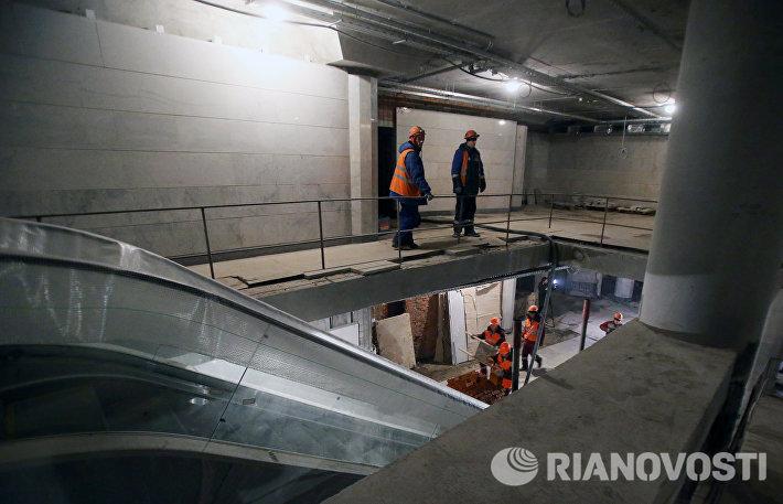 Строительство ТПУ Площадь Гагарина