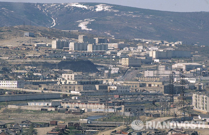 Вид города Магадана