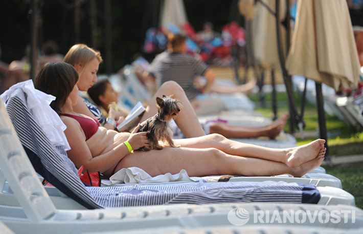 Зона отдыха с бассейнами открылась в парке Сокольники