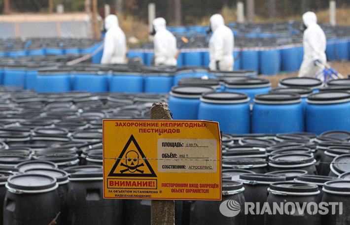 Работы по ликвидации Слонимского захоронения непригодных пестицидов