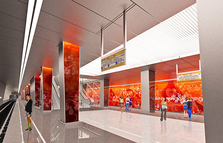 Проект станции Мичуринский проспект