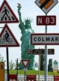 Статуя Свободы городе Кольмаре во Франции