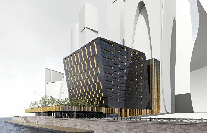 Проект МФК в Москва-Сити в форме куба