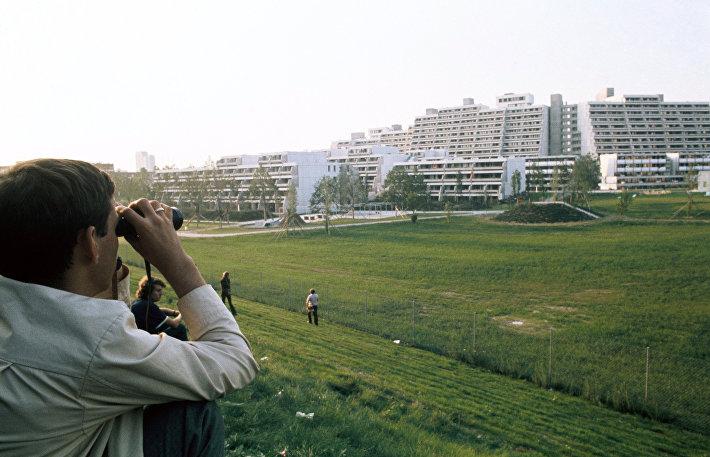 Олимпийская деревня в Мюнхене, построенная к играм 1972 года