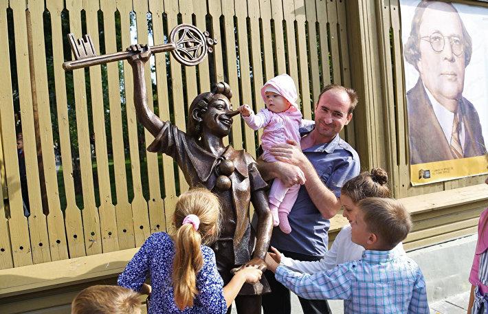 Открытие памятника Буратино в Самаре