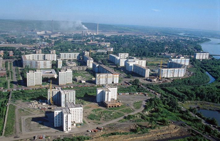 Вид на город Новокузнецк