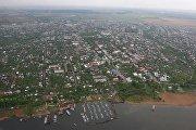 Вид на город Чистополь в Татарстане