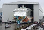 Спуску на воду лайнера для компании Norwegian Cruise Line