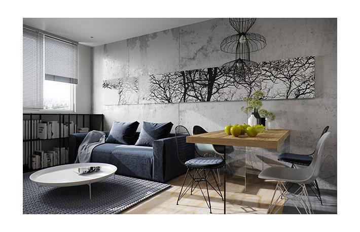 Серость как фишка: как креативно закатать стены родного дома в бетон