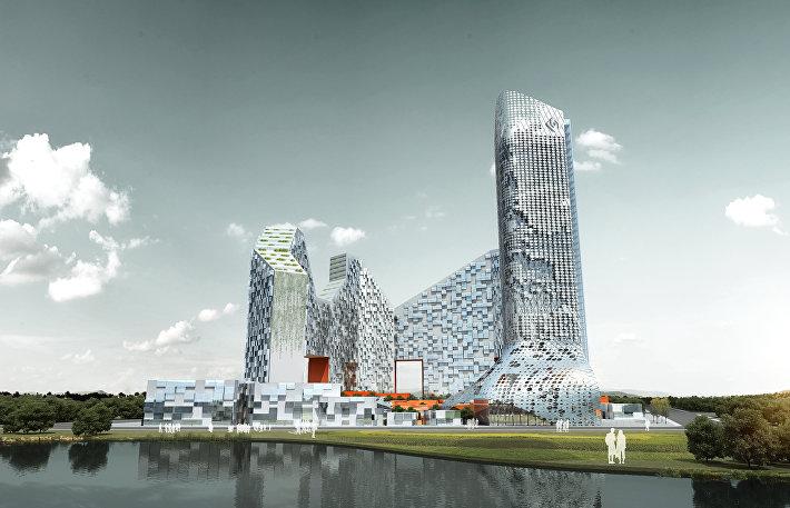 Проект THE TOWN от CRG Architects  для города Шеньжень, Китай