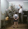 Новый год в семье инженера института Гипротис А. Гуськова