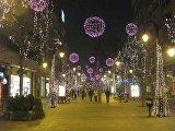 Одна из улиц Скопье в Рождество